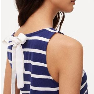 NWT LOFT Striped Tie Back Shell Top